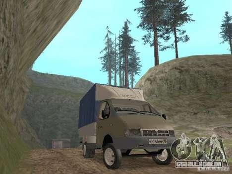 GAZ 3302 em 2001. para GTA San Andreas vista traseira