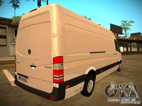 Mercedes Benz Sprinter 311 CDi para GTA San Andreas vista interior