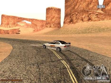 BMW M3 MyGame Drift Team para GTA San Andreas vista traseira