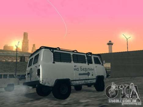 UAZ 2206 para GTA San Andreas vista superior
