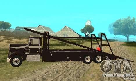 Kenworth Car Hauler para GTA San Andreas esquerda vista