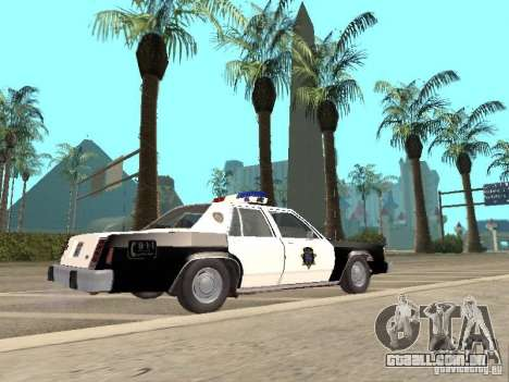 Ford LTD Crown Victoria Interceptor LAPD 1985 para GTA San Andreas esquerda vista