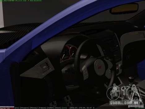 Subaru Impreza para vista lateral GTA San Andreas