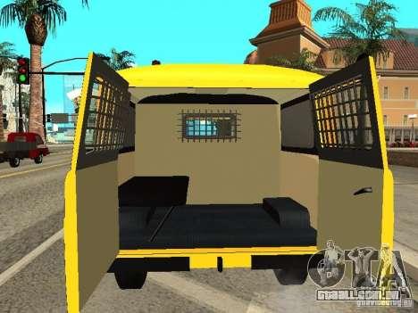 Policiais de 2206 UAZ para GTA San Andreas vista interior