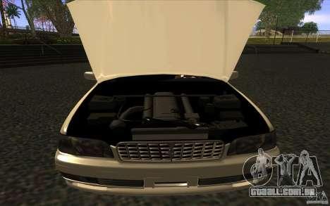 Nissan Cedric Stock para GTA San Andreas traseira esquerda vista