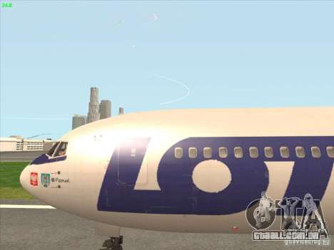 Boeing 767-300 LOT Polish Airlines para GTA San Andreas vista traseira