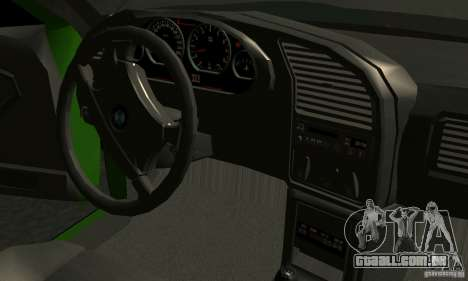 BMW E36 320i para vista lateral GTA San Andreas