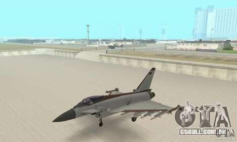EF-2000 Typhoon V1.3 para GTA San Andreas vista direita