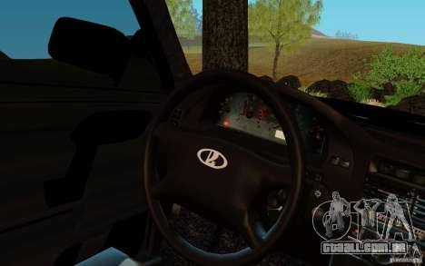 VAZ 2111 para GTA San Andreas traseira esquerda vista