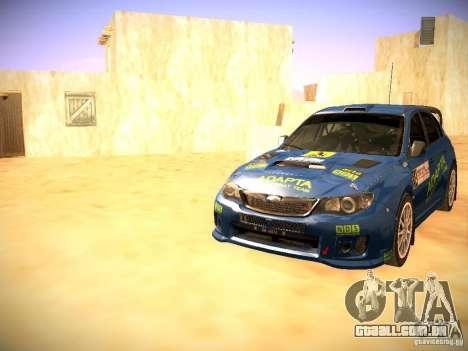 Subaru impreza Tarmac Rally para GTA San Andreas vista inferior