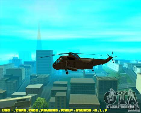 SH-3 Seaking para GTA San Andreas esquerda vista
