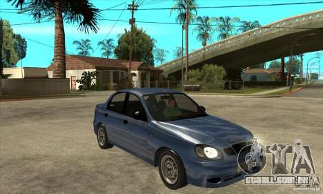 Daewoo Lanos v2 para GTA San Andreas vista traseira