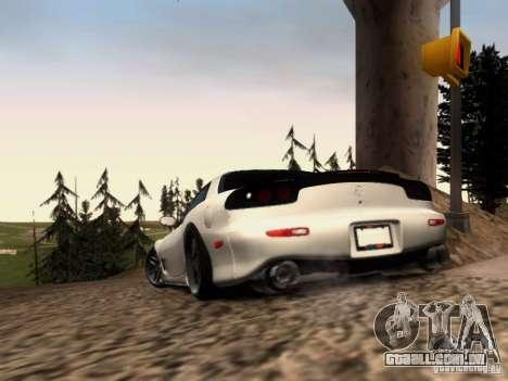 Mazda RX7 Tuning para GTA San Andreas traseira esquerda vista