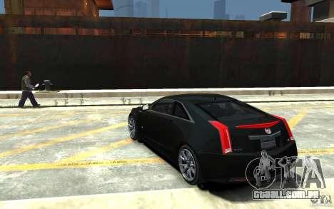 Cadillac CTS-V Coupe 2011 v.2.0 para GTA 4 traseira esquerda vista