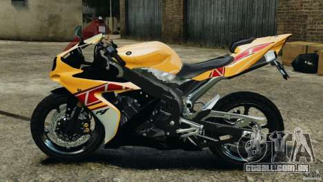 Yamaha YZF-R1 2012 para GTA 4 esquerda vista