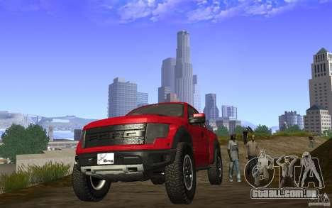 Ford F150 SVT RapTor para GTA San Andreas vista traseira