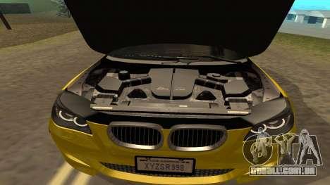 BMW M5 E39 para GTA San Andreas vista superior