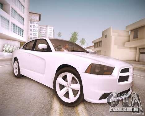 Dodge Charger 2011 v.2.0 para GTA San Andreas vista traseira