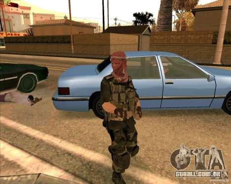 Dušmana de pele de COD4 para GTA San Andreas segunda tela