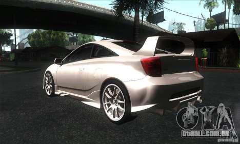 Toyota Celica-SS2 Tuning v1.1 para GTA San Andreas vista direita
