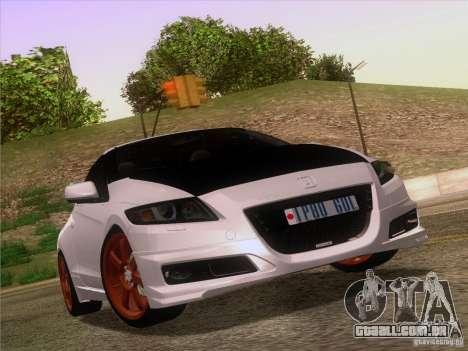 Honda CR-Z Mugen 2011 V2.0 para GTA San Andreas interior