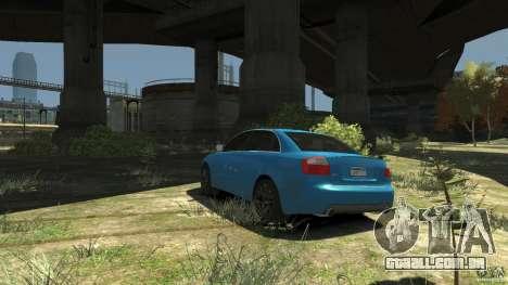 Audi S4 2000 para GTA 4 traseira esquerda vista