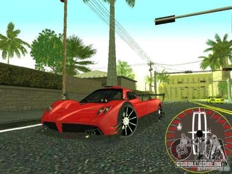 Velocímetro novo Lincoln para GTA San Andreas por diante tela
