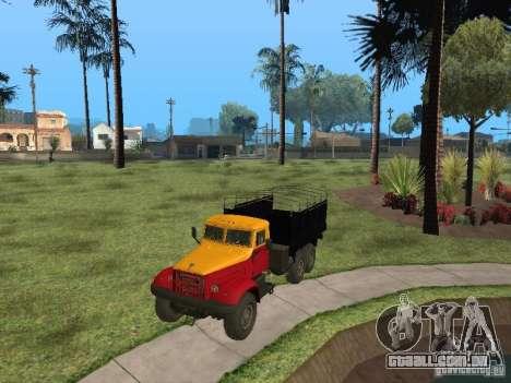 YAZ 214 para GTA San Andreas traseira esquerda vista