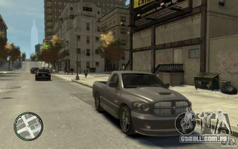 Dodge Ram SRT10 para GTA 4 vista de volta