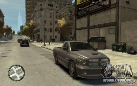 Dodge Ram SRT10 para GTA 4 vista de volta