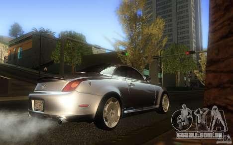 Lexus SC430 para GTA San Andreas vista direita