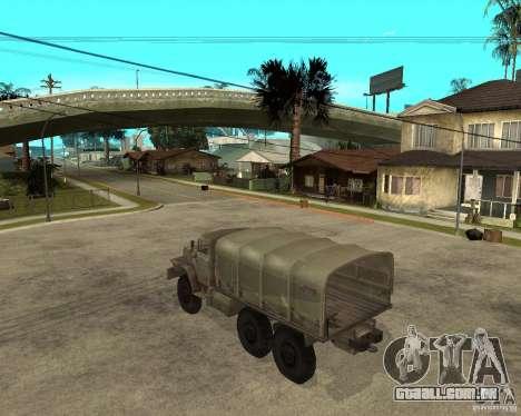 Ural-4230 para GTA San Andreas esquerda vista