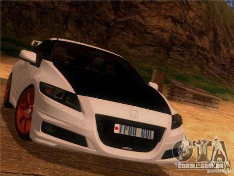 Honda CR-Z Mugen 2011 V2.0 para GTA San Andreas vista interior