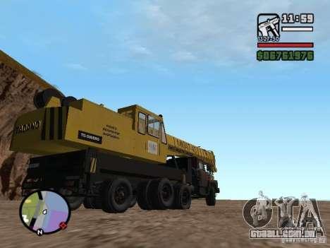 KrAZ-250 MKAT-40 para GTA San Andreas vista traseira