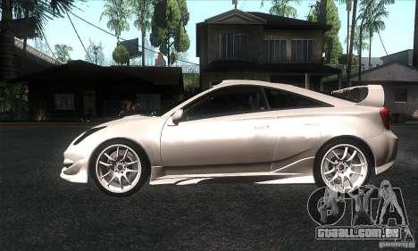 Toyota Celica-SS2 Tuning v1.1 para GTA San Andreas esquerda vista