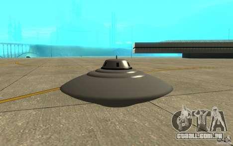 Bob Lazar Ufo para GTA San Andreas traseira esquerda vista