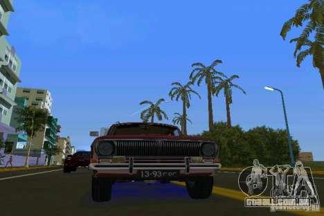 GAZ Volga de 2402 para GTA Vice City vista traseira esquerda