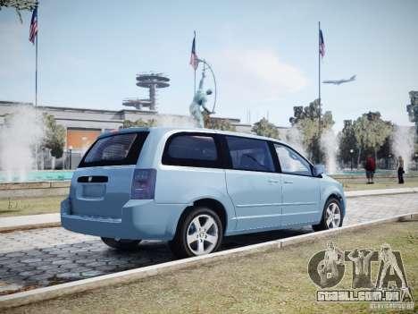 Dodge Grand Caravan SXT 2008 para GTA 4 vista inferior