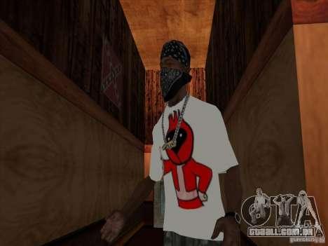 Omsk pássaros, t-shirt para GTA San Andreas segunda tela