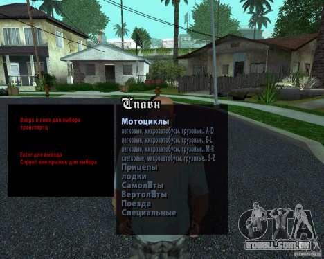 Máquinas Spavn Rus para GTA San Andreas