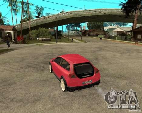 VOLVO C 30 T5 DEL 2008 para GTA San Andreas esquerda vista