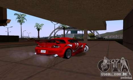 Mazda RX-8 Speed para GTA San Andreas traseira esquerda vista