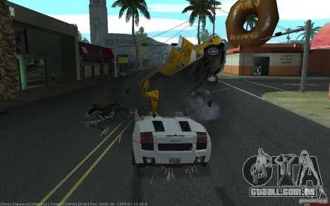 Acidente realista para GTA San Andreas por diante tela