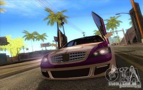 Mercedes-Benz S600 AMG WCC Edition para GTA San Andreas vista traseira