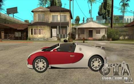 Bugatti Veyron Gran Sport 2011 para GTA San Andreas esquerda vista