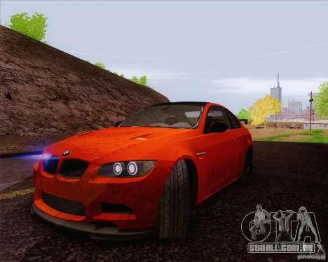 BMW M3 GT-S para GTA San Andreas vista interior