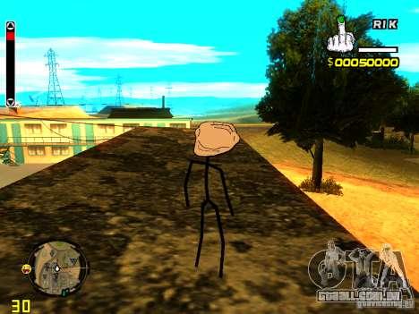 TrollFace skin para GTA San Andreas por diante tela