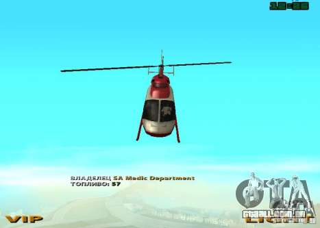 New Maverick para GTA San Andreas vista direita