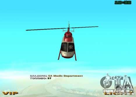 New Maverick para GTA San Andreas vista direita