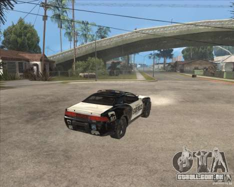 Police NFS UC para GTA San Andreas vista direita